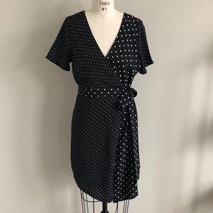 Dee Elly polka dot wrap dress